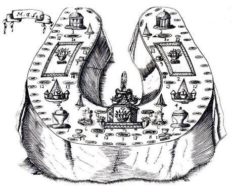Horseshoe table de la Mata