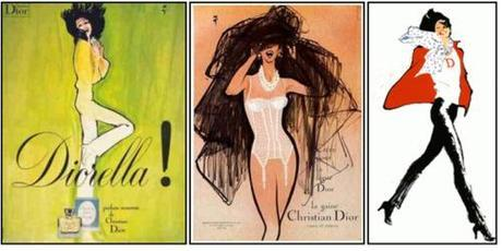 Fashion drawings by René Gruau for Dior. Related article Dior...