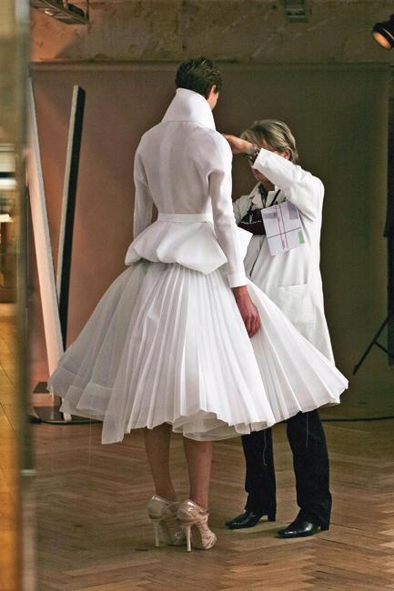 2 days to go, Behind the scenes at Dior S/S 2011