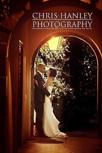I love the romance of this wonderful wedding photo - Geoff and Steph in the warm glow of a lamp outside Trinity College