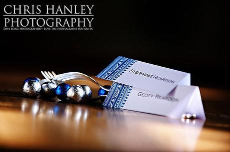 Pretty little details with a blue and white wedding theme