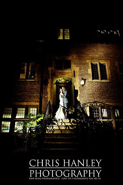 Chris Hanley always creates exceptional images with lighting at night time. I love this picture of Steph and Geoff on the steps of their wedding venue after dark