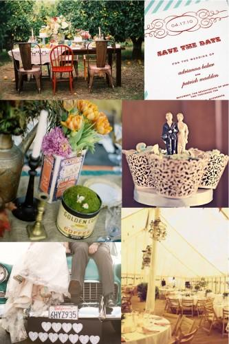 A garden, retro and craft themed inspiration board