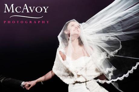 Wedding veil blowing... one of many beautiful windy shots!