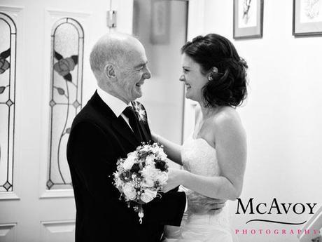Jane and her dad before the wedding