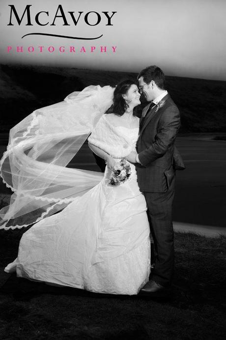 A wedding veil blowing in the wind won't necessarily do what you'd like it to... but this is brilliant!