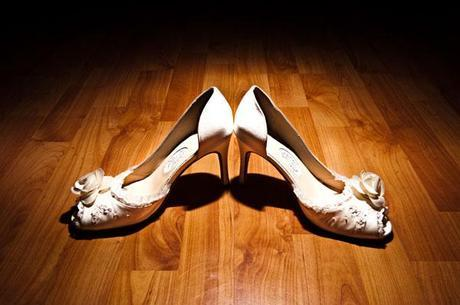 Jane's wedding shoes - I love the lace trim