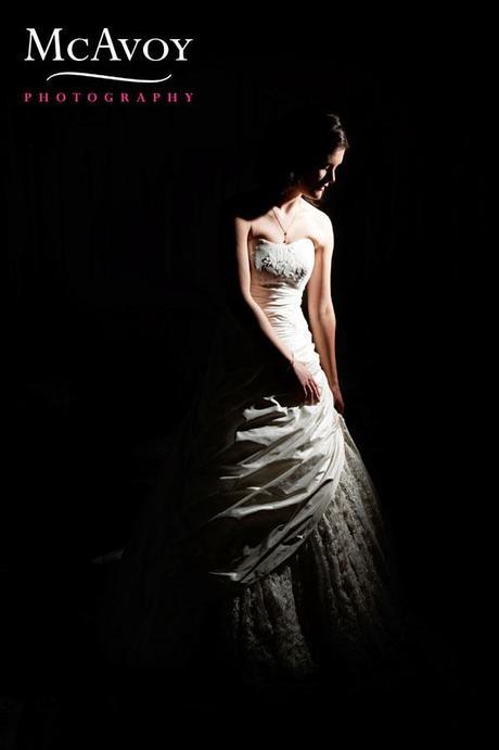 Portrait of Jane in her beautiful wedding dress