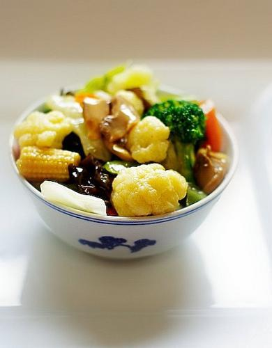 Mixed vegetables with mushroom and fungus