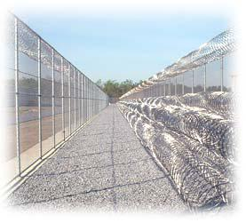 Barbed tape at a prison
