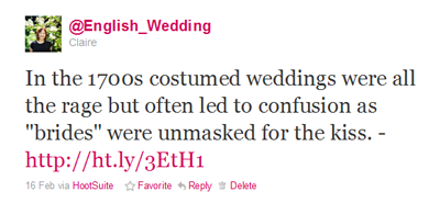 English Wedding blog on Twitter