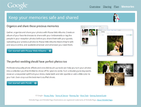 Thank Google for the Memories? Wedding photo sharing tools