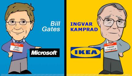 Comparing The Lives Of Bill Gates And Ingvar Kamprad