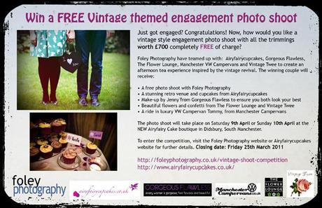 Win a vintage themed engagement shoot in Manchester