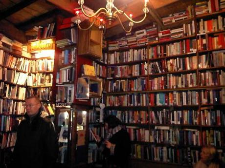 A lovely little book shop beside Notre Dame in...