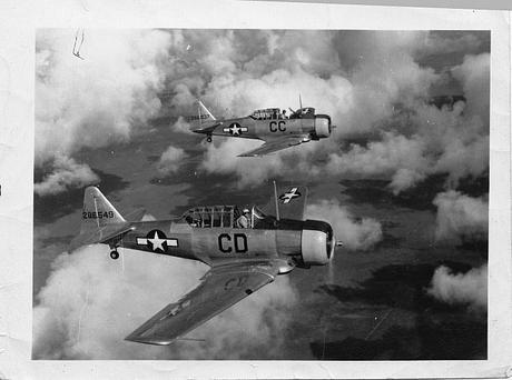 Flight of 2 Trainers - Buckignham Army Airfield Florida