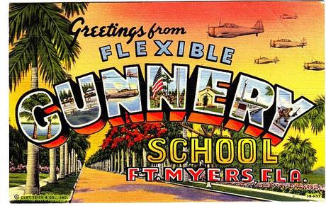 Buckingham Army Airfield Flexible Gunnery School Postcard