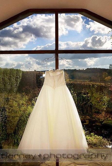 Emma's wedding dress - and what a wonderful view from the window