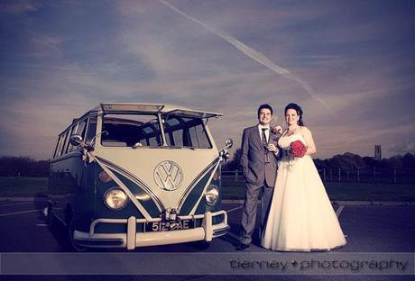 Emma and Matt with the vintage VW campervan from Dub Tails