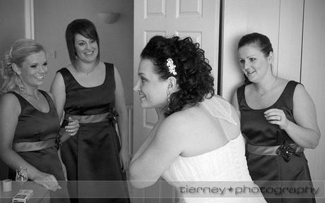 Emma getting ready with her beautiful bridesmaids