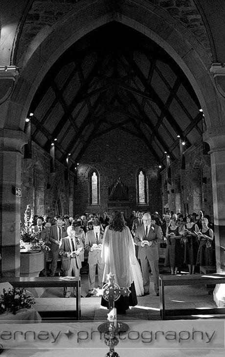 The wedding inside the Holy Trinity Church in Ulley, near Rotherham