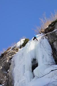 ice climbing Col de Montets
