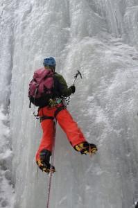 ice climbing Le Chapeau