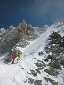 Skiing Glacier Rond, Aiguille du Midi, Chamonix