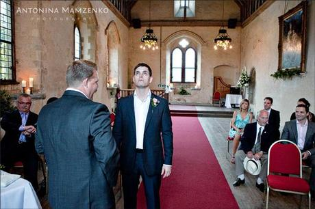 Rob waits in the chapel for his bride