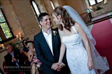 Rob and Gemma's intimate wedding