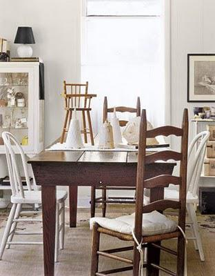 A house in gorgeous warm whites filled with vintage treasures
