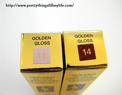 Yves Saint Laurent Golden Glosses - 11 Golden Whisper  and 14 Golden Purple