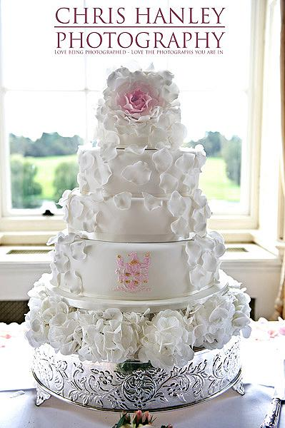 A lavish and beautiful wedding cake for a luxury wedding day