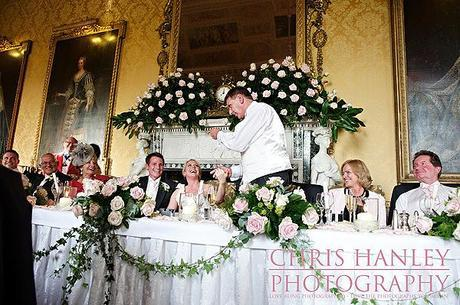 The wedding speeches go down a treat