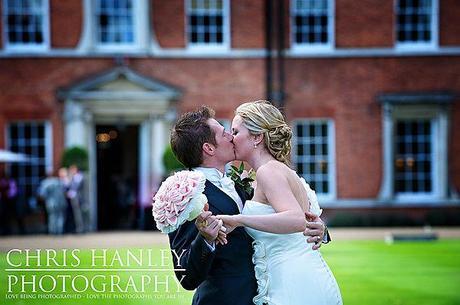 A kiss outside Brocket Hall