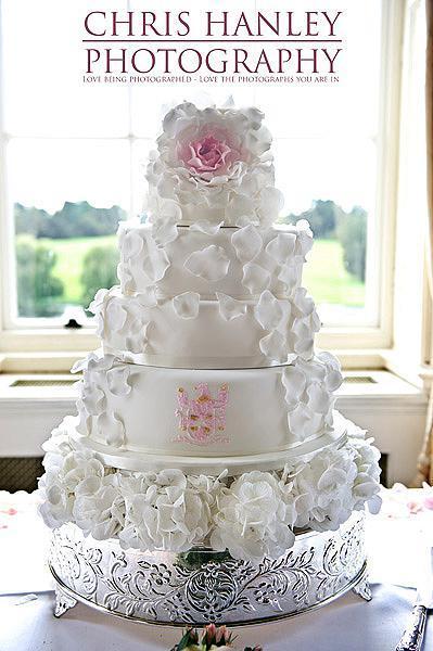 A lavish and beautiful wedding cake for a luxury wedding day
