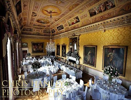 Every inch of the dining room at Brocket Hall is impressive