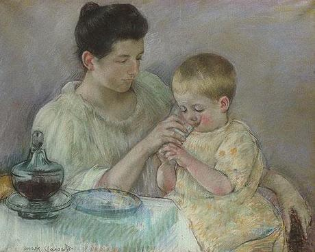 Mother Feeding Child by Mary Cassatt