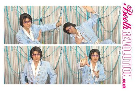 Elvis in a wedding photo booth