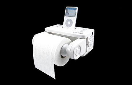 Stereo Dock For iPod Or iPhone With Bath Tissue Holder