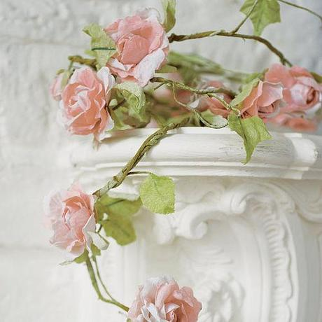 rose garland from not on the high street