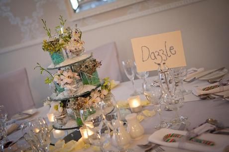 glitter writing wedding table names from Jonny Draper photography blog