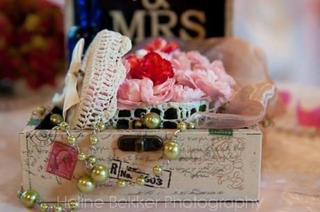 Vintage London wedding tables