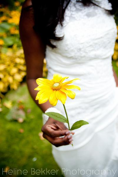I LOVE this picture of Denise holding a sunflower