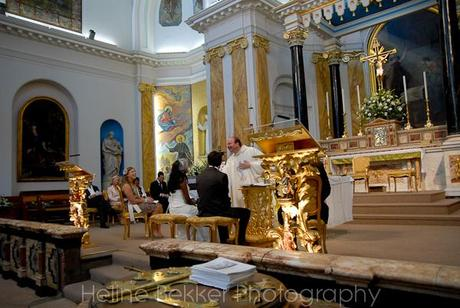 Marble, gold, paintings and a giggling vicar: a grand setting for a lovely service