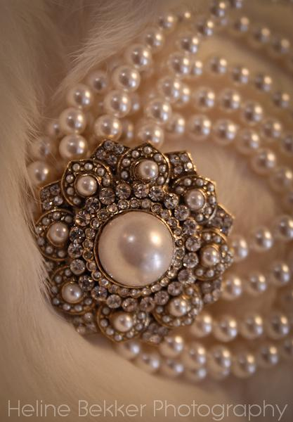 A beautiful vintage inspired wedding bracelet with pearls