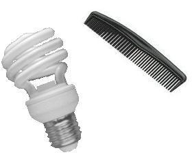 CFL lamp and comb