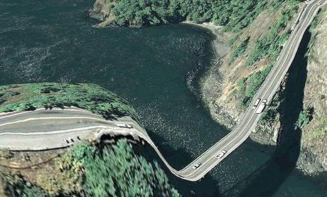Distorted Bridges And Overlays From Google Earth