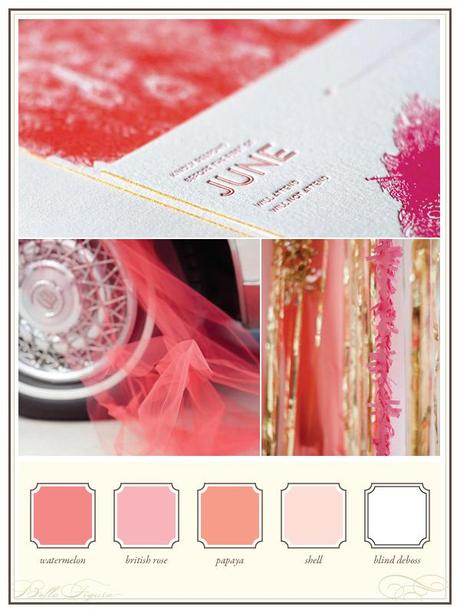 Bella Figura pink letterpress stationery theme