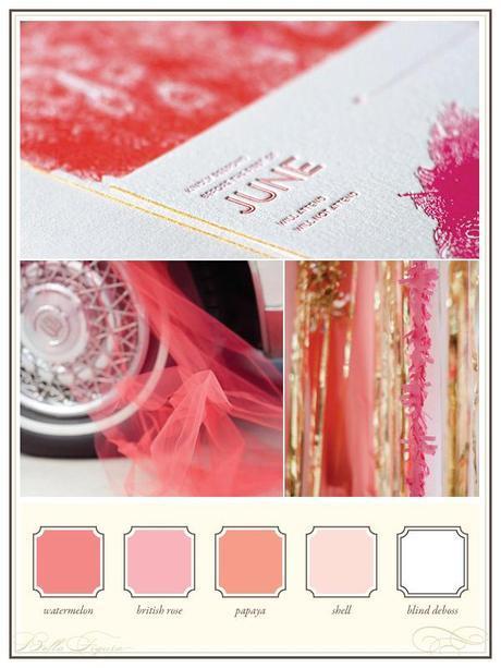 Bella Figura pink letterpress stationery theme